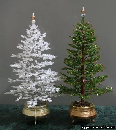 разных деревьях из бисера,